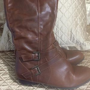 Boots Wide Calf size 11W Light Brown